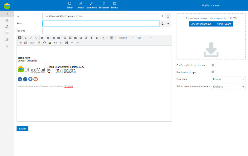E-Mail Corporativo assinatura profissional