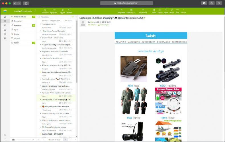 E-Mail Corporativo webmail estilo verde
